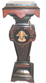 This pedestal is an example of some of the fine Victorian Antiques featured at JoanBogart.com